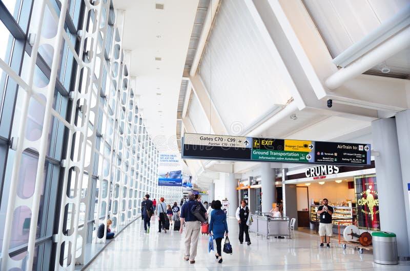 Aéroport international de Newark images libres de droits