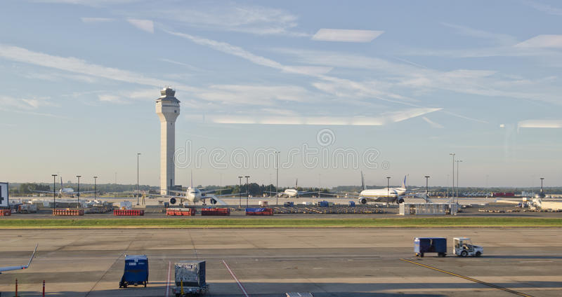 Aéroport international de Newark photo libre de droits