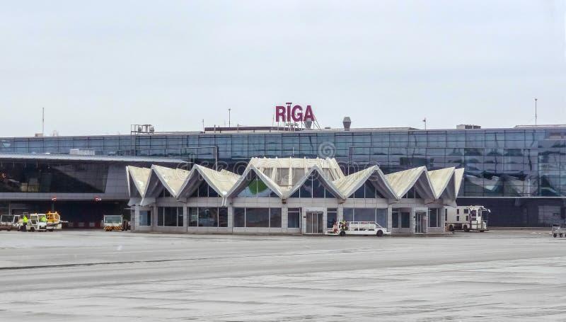 Aéroport international de Riga photographie stock libre de droits