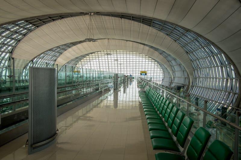 Aéroport international de Suvarnabhumi à Bangkok images libres de droits