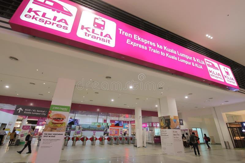 Aéroport Kuala Lumpur Malaysia du train KLIA photographie stock