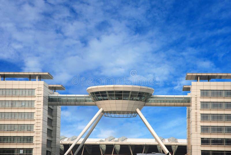 Aéroport moderne à Changhaï, Chine image libre de droits