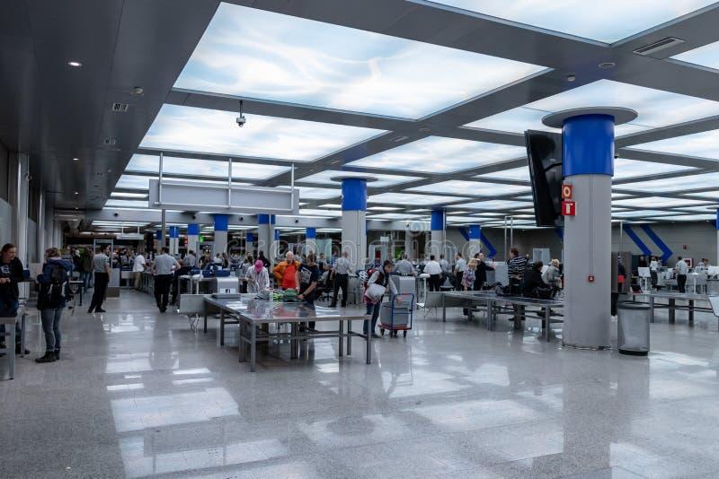 Aéroport, palma, Majorque, Espagne, 14 avril 2019 : contrôle de sécurité à l'aéroport du palma, Majorque photo stock