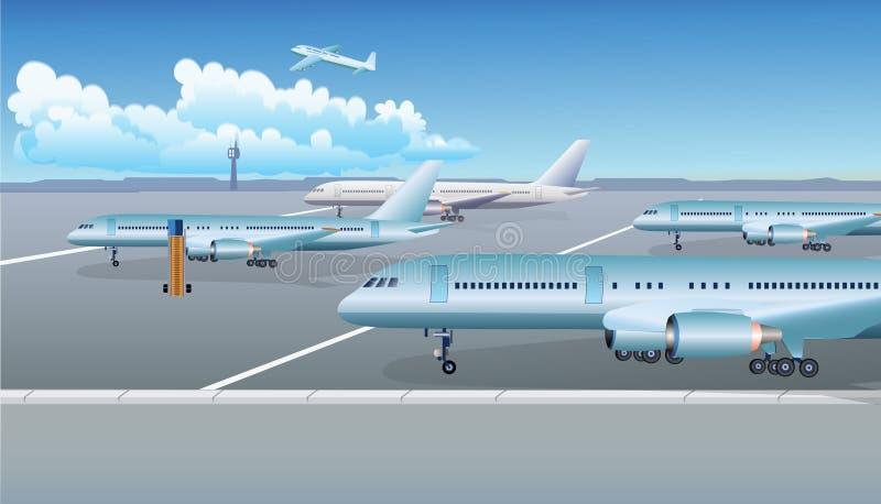 Aéroport illustration stock