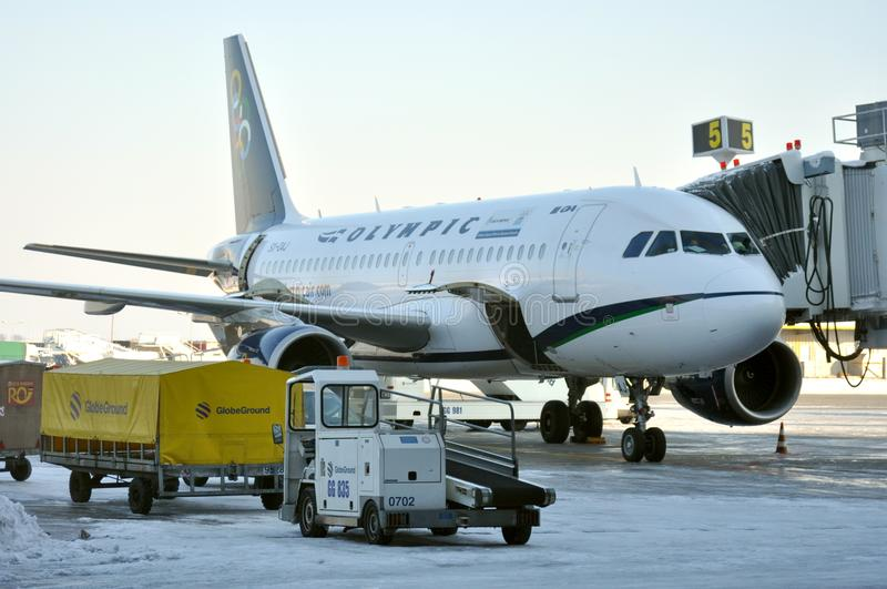 Aéroport roumain au travail, Bucarest photos libres de droits