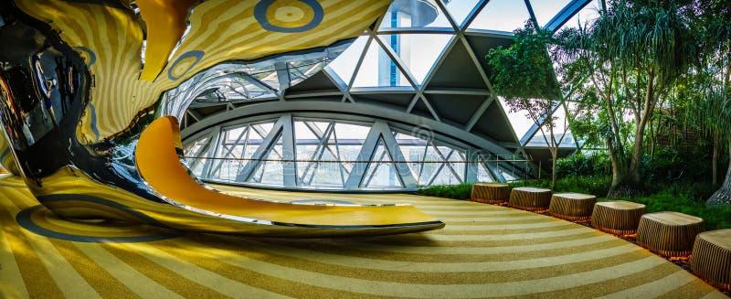 Aéroport Singapour - glissières de Changi de bijou de découverte image libre de droits