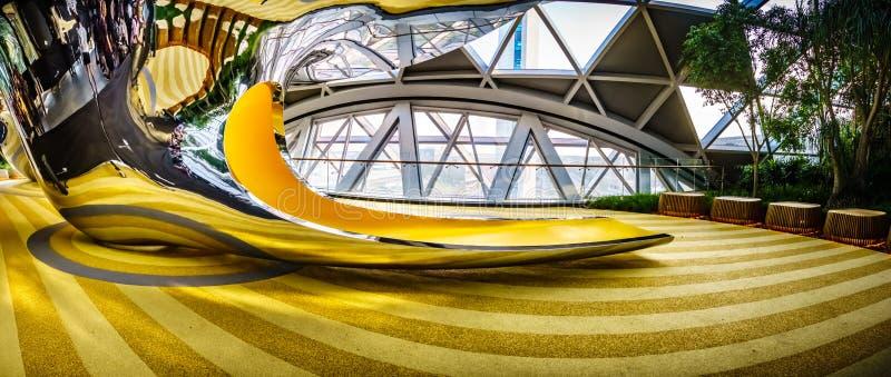 Aéroport Singapour - glissières de Changi de bijou de découverte photo stock