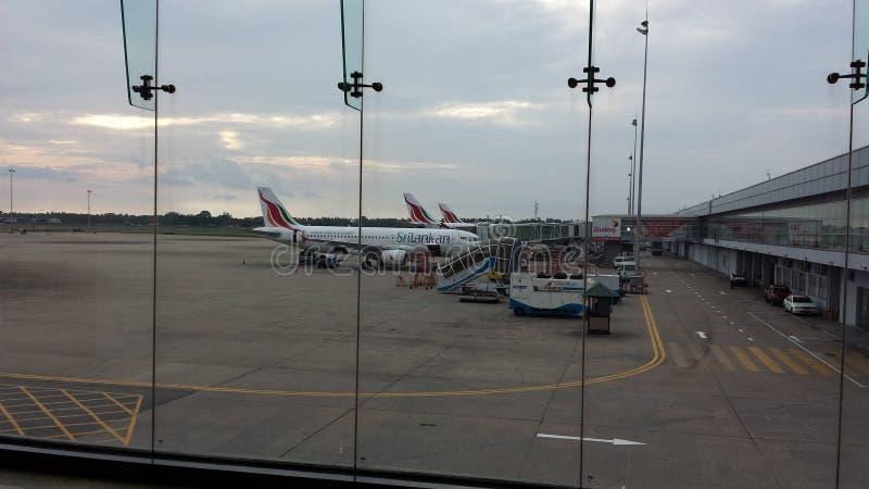Aéroport Sri Lanka de Katunayake images libres de droits