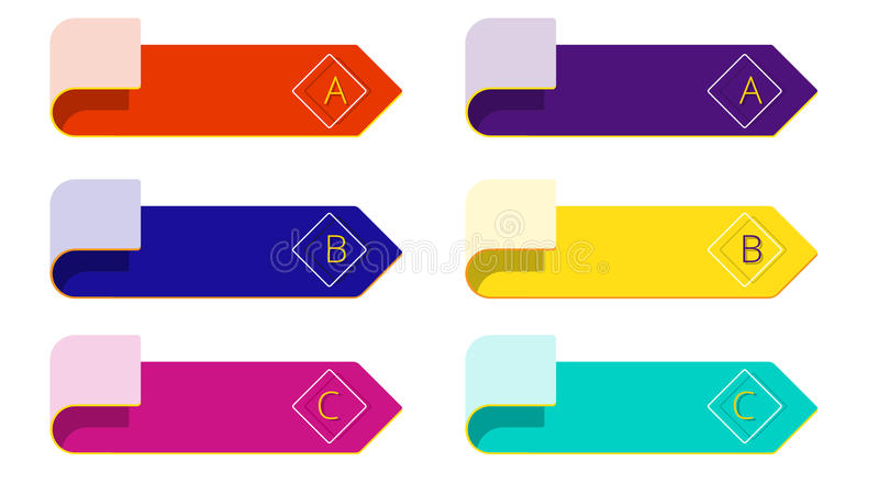 Aísle los elementos mínimos modernos de la flecha para el infographics del negocio ilustración del vector