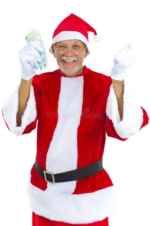 Aîné comme Santa image libre de droits