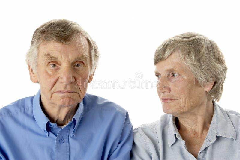aîné de verticale de couples photographie stock