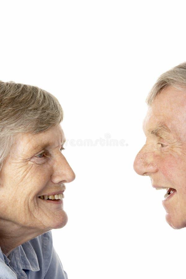 aîné de verticale de couples photographie stock libre de droits