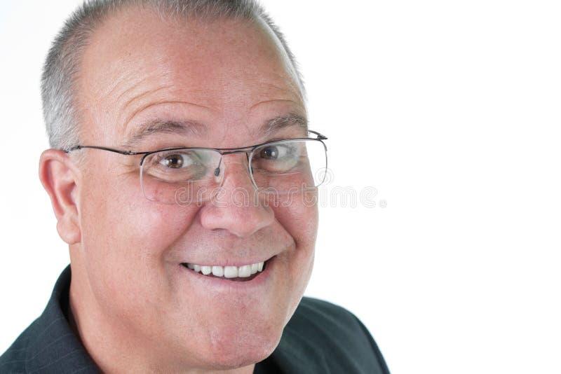 Aîné mâle émotif d'homme de Headshot photo libre de droits