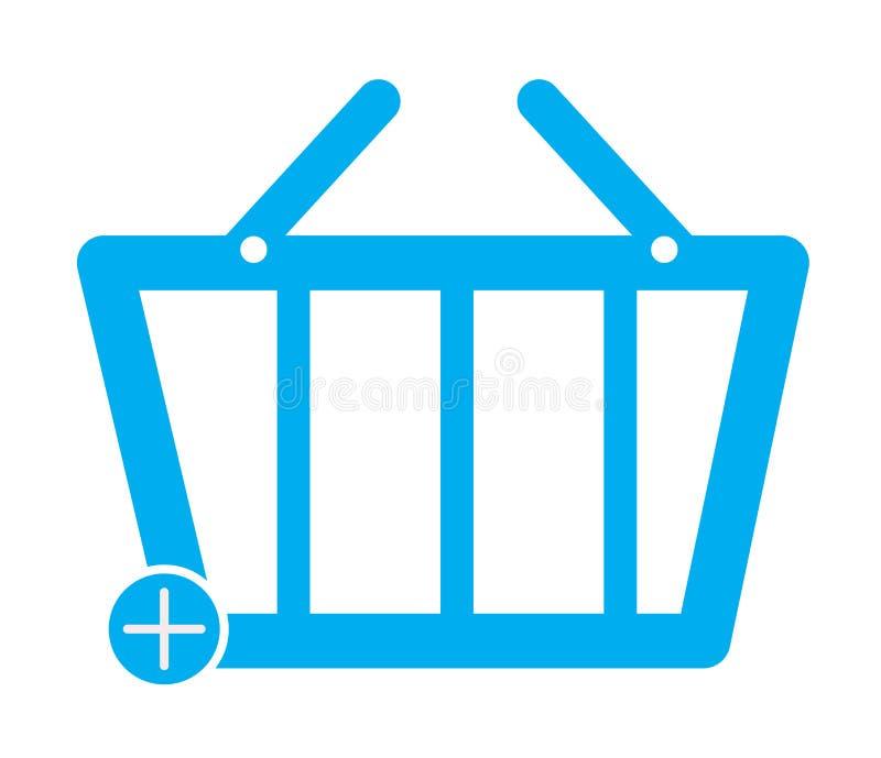 Añada al icono del botón del comercio de la cesta en el fondo blanco Estilo plano Icono para su diseño del sitio web, logotipo, a stock de ilustración