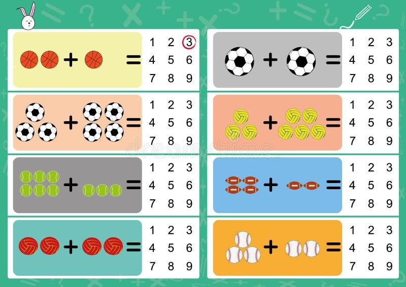 añada el objeto y escriba la respuesta correcta ilustración del vector