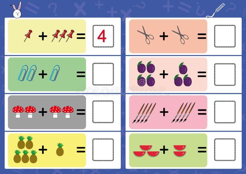 añada el objeto y escriba la respuesta correcta stock de ilustración