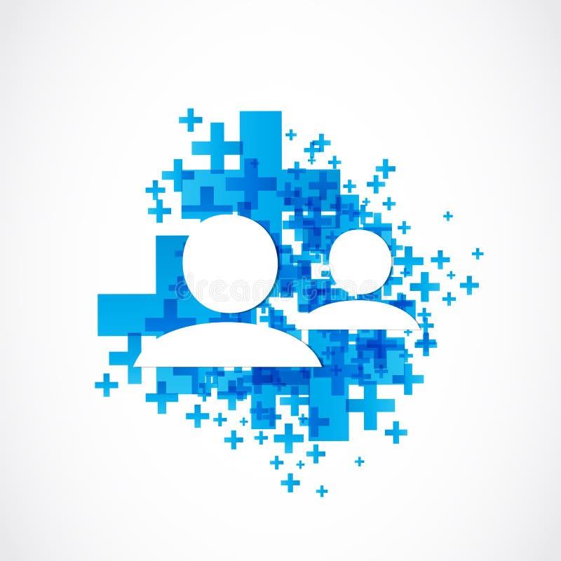 Añada entrar en contacto con social de los media del amigo libre illustration