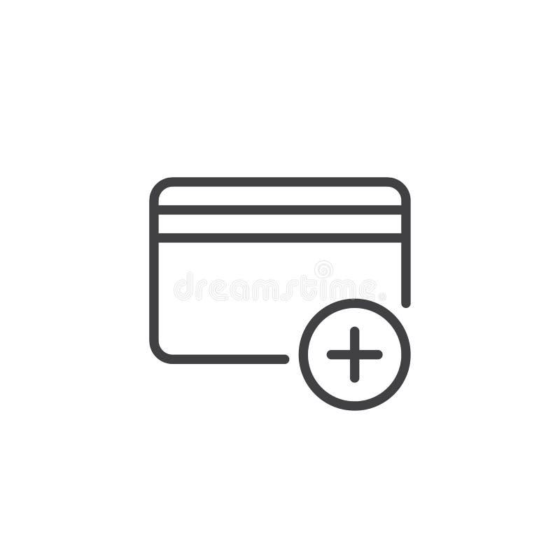 Añada la línea icono de la tarjeta de crédito libre illustration
