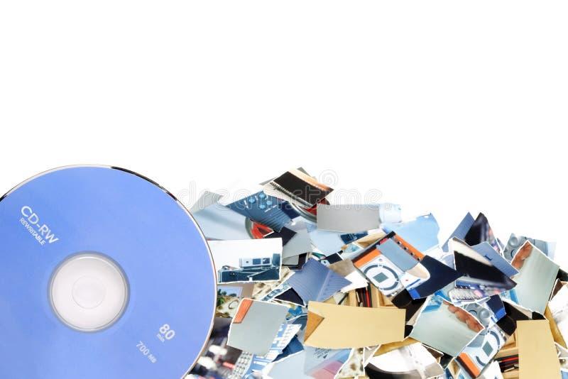 Añada las fotos en CD foto de archivo libre de regalías