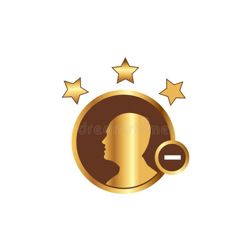 Añada los iconos del usuario miembro e icono más libre illustration