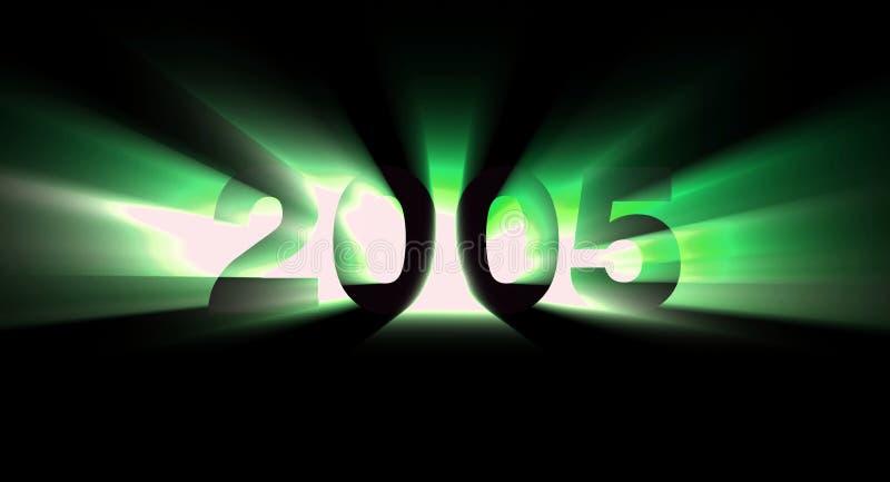 Año 2005 stock de ilustración