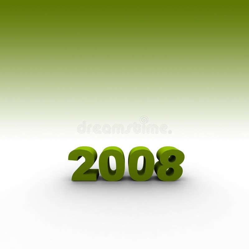 Año 2008 stock de ilustración