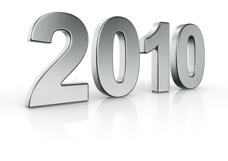 Año 2010 stock de ilustración