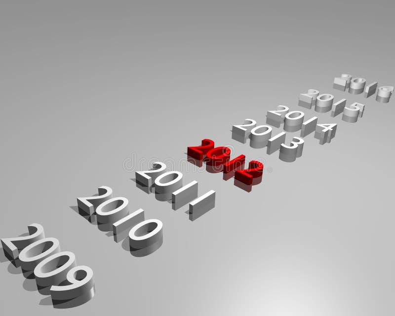 Año 2012 ilustración del vector