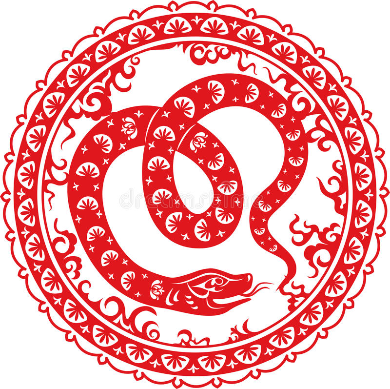 Año 2013 de la serpiente stock de ilustración