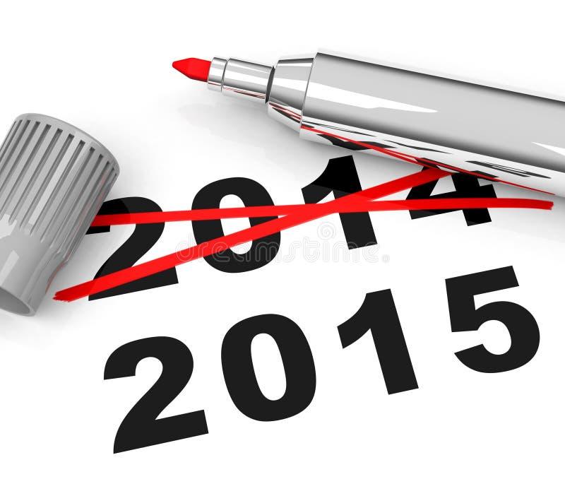 Año 2015 foto de archivo