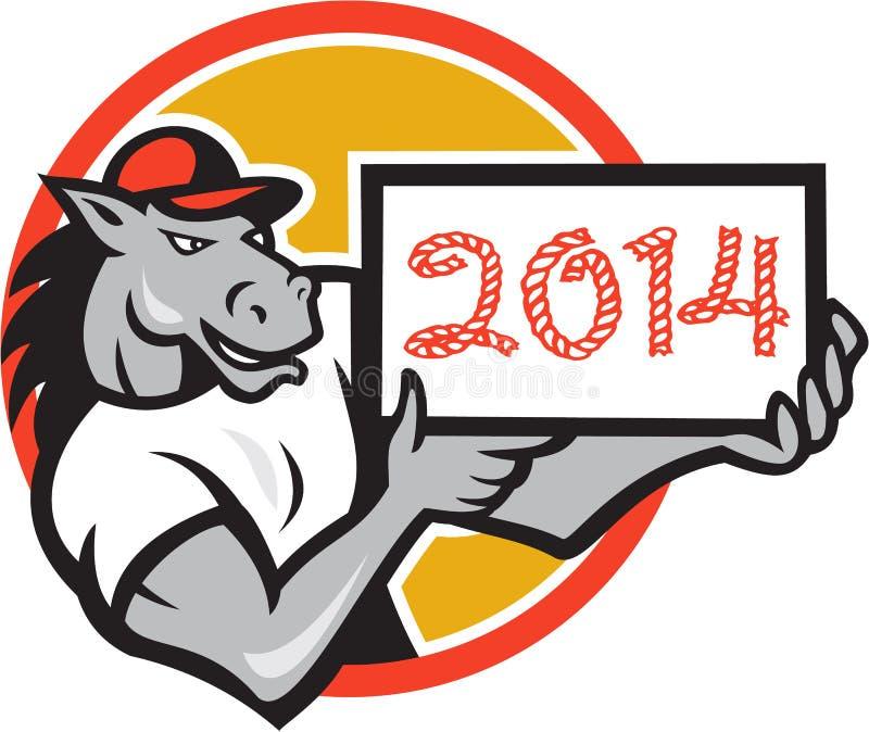 Año de historieta de la muestra del caballo que muestra 2014 libre illustration
