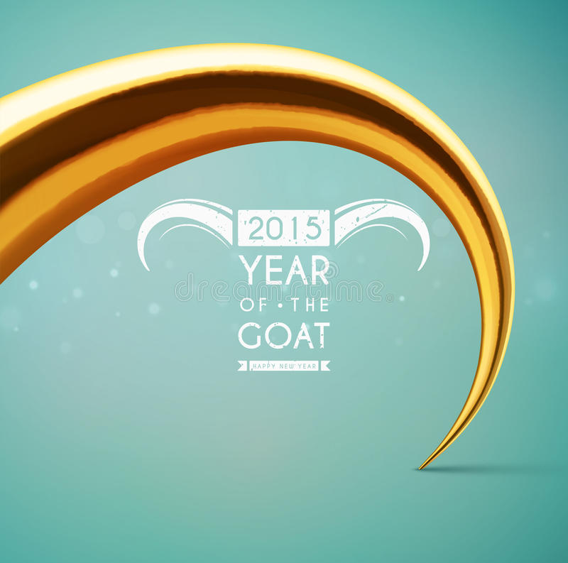 Año de la cabra stock de ilustración
