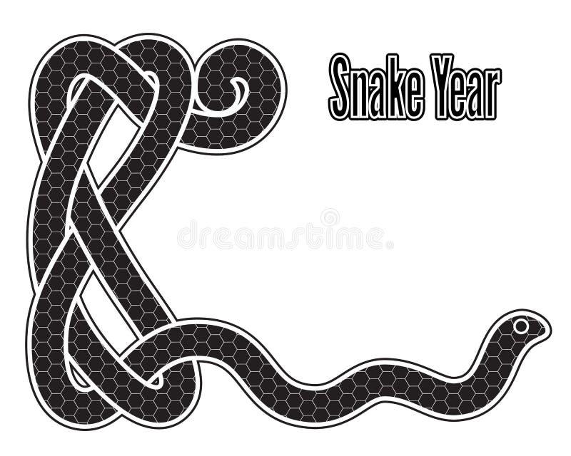 Año de la serpiente ilustración del vector