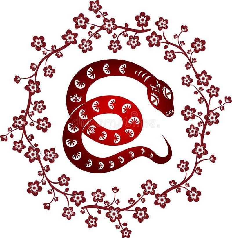 Año de la serpiente. stock de ilustración