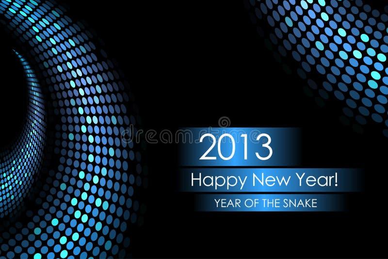 Año de la serpiente de agua stock de ilustración