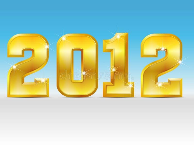 Año de oro 2012 stock de ilustración