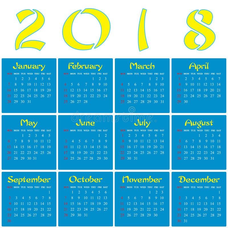 2018 - Año de un perro amarillo imágenes de archivo libres de regalías
