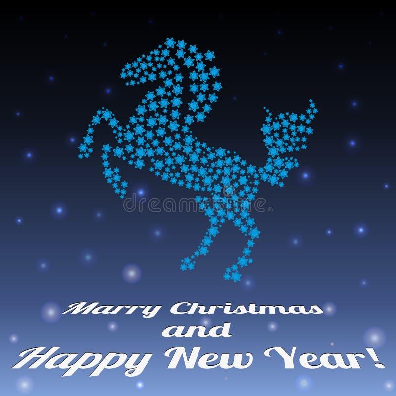 Año del caballo stock de ilustración