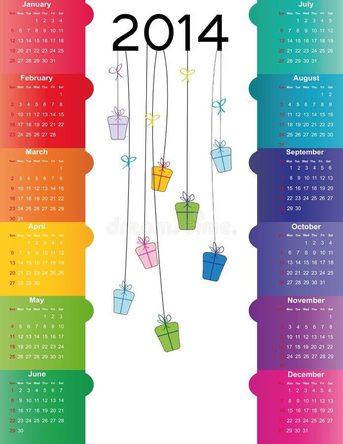 Año del calendario 2014 libre illustration