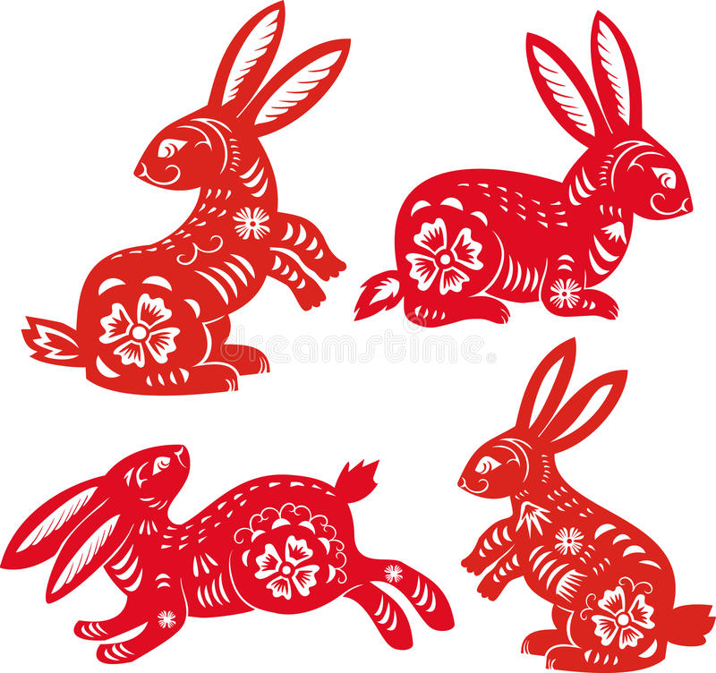 Año del conejo. Zodiaco chino. libre illustration