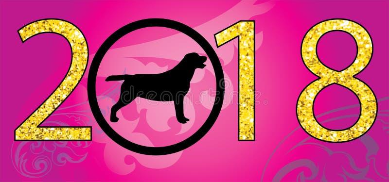 Año del vector del perro 2018 fotos de archivo libres de regalías