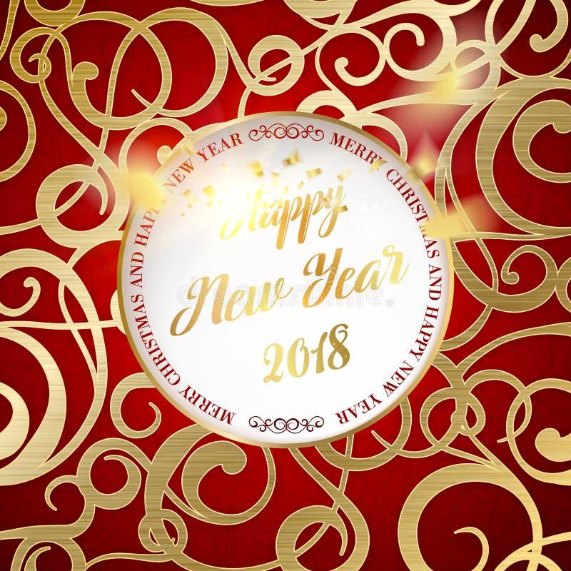 Año feliz 2018 del tejo libre illustration