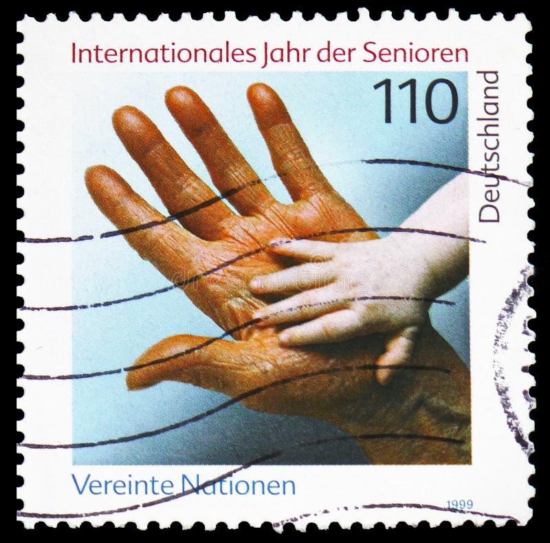 Año internacional de más viejas personas, serie, circa 1999 fotos de archivo libres de regalías