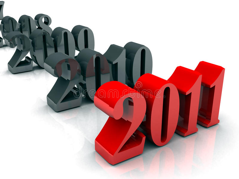 Año Nuevo 2008 a 2011 libre illustration