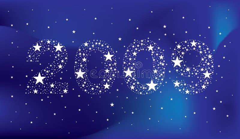 Año Nuevo 2009 ilustración del vector