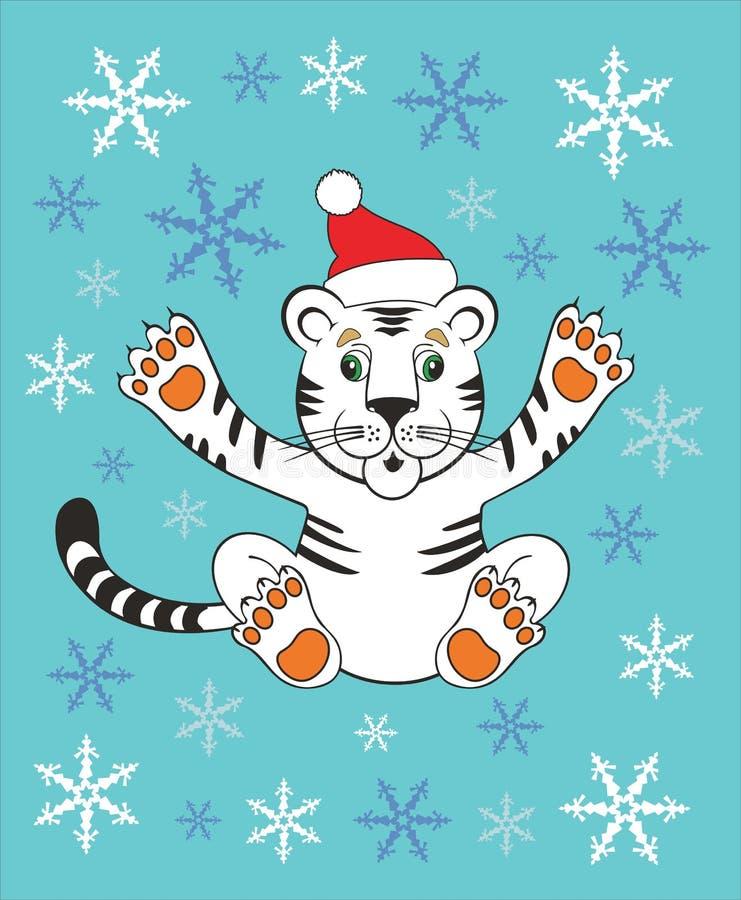 Año Nuevo 2010 del tigre libre illustration