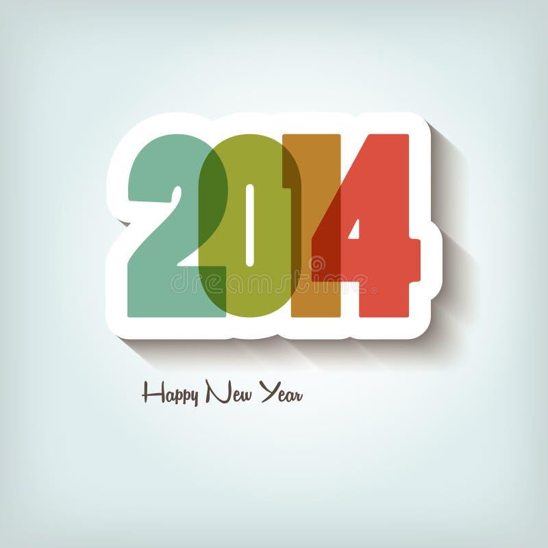 Año Nuevo 2014 ilustración del vector