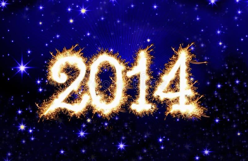 Año Nuevo 2014. ilustración del vector