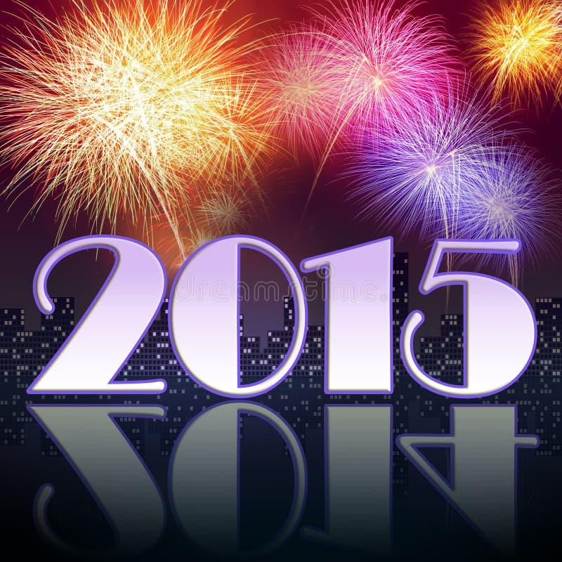 Año Nuevo 2015 stock de ilustración