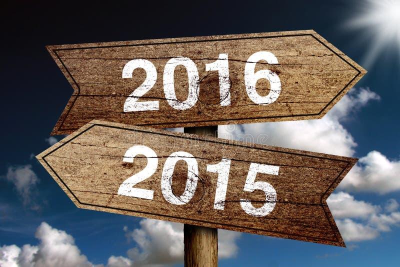Año Nuevo 2016 imagen de archivo libre de regalías